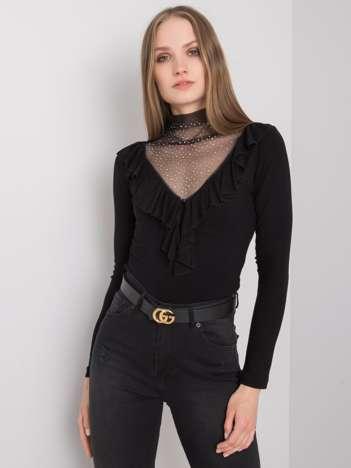 Czarna bluzka z aplikacją Lizzie
