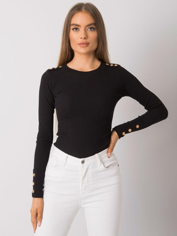 Czarna bluzka z długim rękawem Asheville RUE PARIS