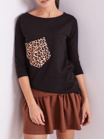 Czarna bluzka z motywem zwierzęcym