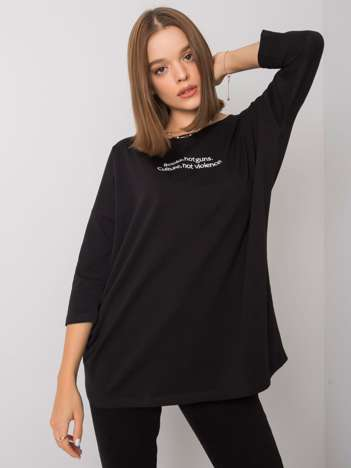 Czarna bluzka z napisem Merel