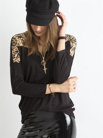 Czarna bluzka z zamkiem