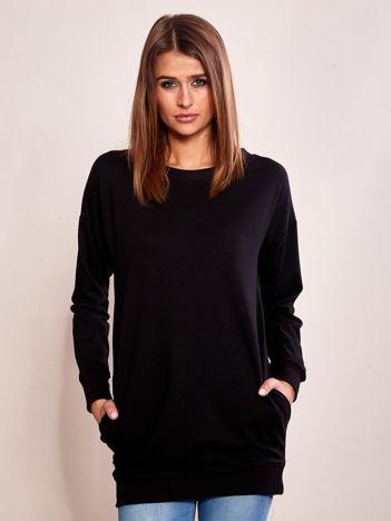 Czarna długa bluza dresowa