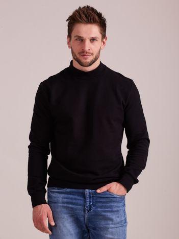 Czarna gładka bluza męska