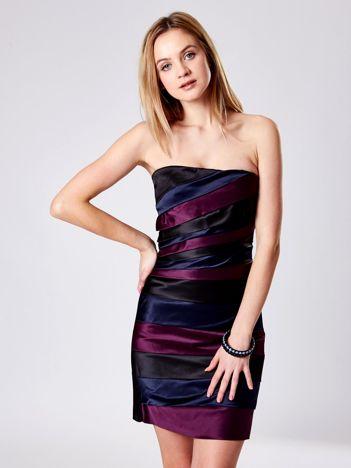 Czarna gorsetowa sukienka