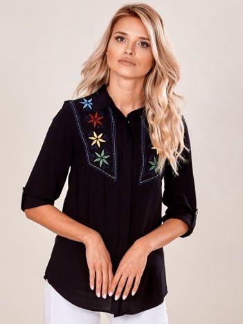Czarna koszula z haftem