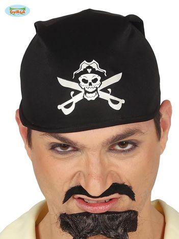 Czarna męska bandana na imprezę Pirat