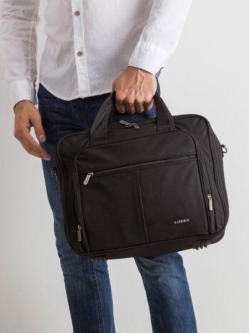 Czarna męska torba na laptopa