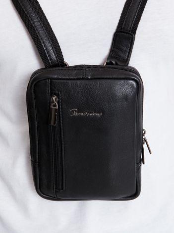 Czarna męska torba z regulowanym paskiem