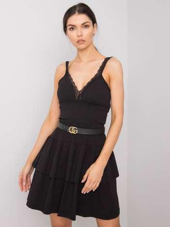 Czarna spódnica mini z falbanami Jenny