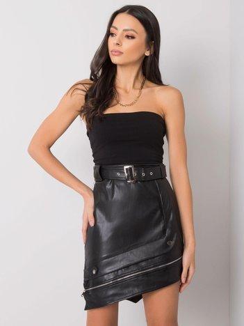 Czarna spódnica z eko skóry Anastasia