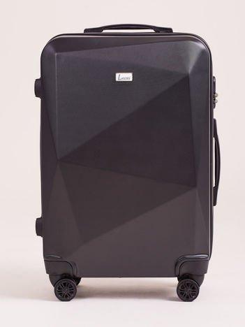 Czarna średnia walizka twarda