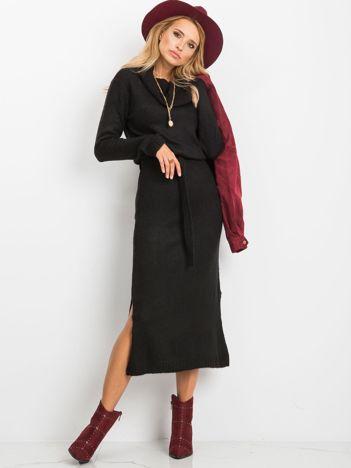 Czarna sukienka Peace