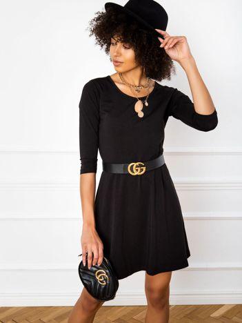 Czarna sukienka Savage