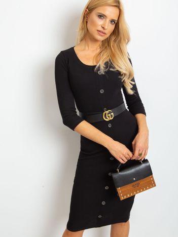 Czarna sukienka Sting