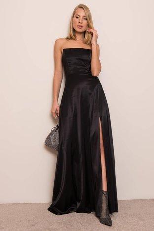 Czarna sukienka maxi BSL