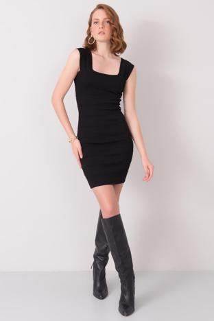 Czarna sukienka mini BSL