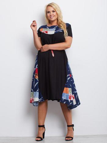 Czarna sukienka plus size Hampshire