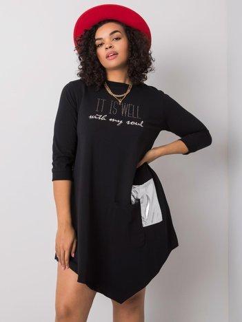 Czarna sukienka z bawełny Billie