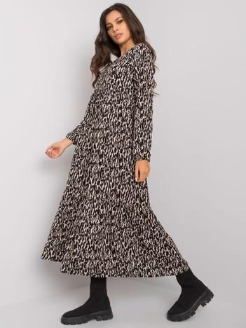 Czarna sukienka z falbaną Maddy