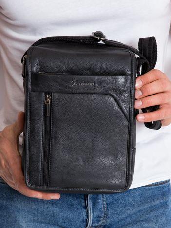 Czarna torba dla mężczyzny ze skóry
