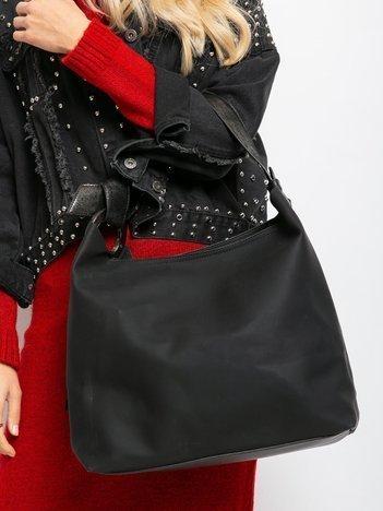 Czarna torba miejska z ekoskóry