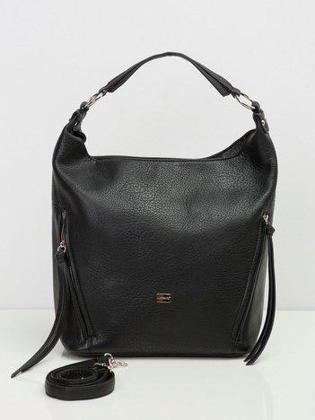 Czarna torba na ramię city bag