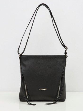 Czarna torebka damska z eco skóry