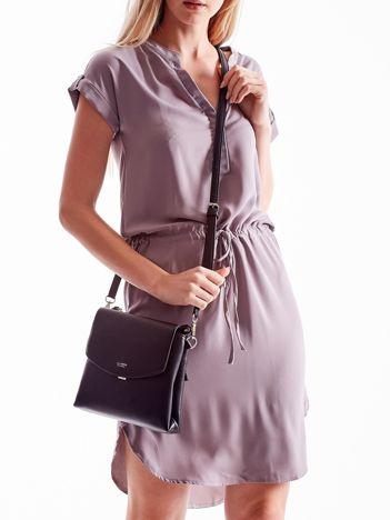 Czarna torebka damska z klapką
