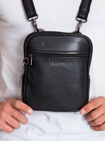 Czarna torebka męska