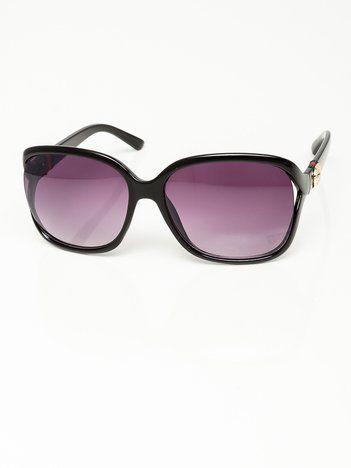 Czarne Damskie Okulary Przeciwsłoneczne MUCHY