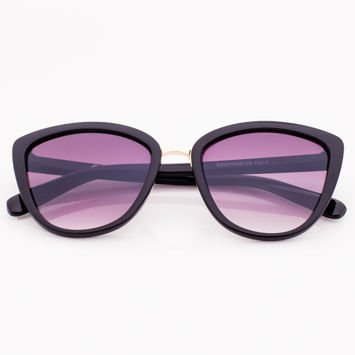 Czarne Damskie Okulary przeciwsłoneczne CAT EYE