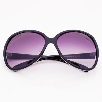 Czarne Damskie Owalne Okulary Przeciwsłoneczne