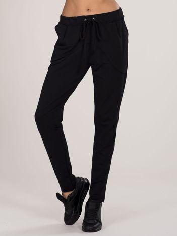 Czarne bawełniane spodnie dresowe