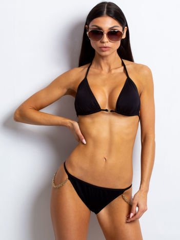 Czarne bikini Chainny
