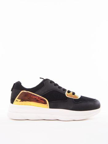 Czarne buty sportowe MARQUIZ z holograficznymi wstawkami