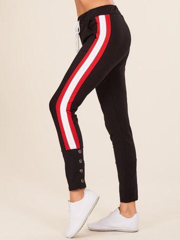 Czarne damskie dresowe spodnie