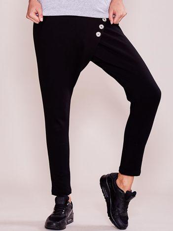 Czarne damskie spodnie dresowe