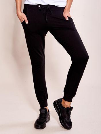 Czarne dresowe spodnie damskie