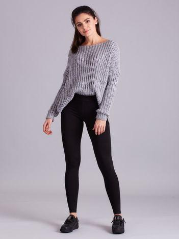 Czarne legginsy damskie gładkie