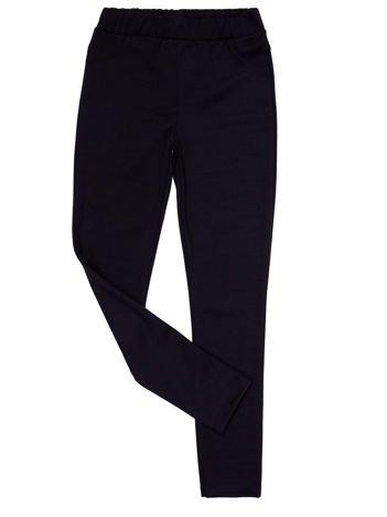 Czarne legginsy dla dziewczynki z imitacją kieszeni