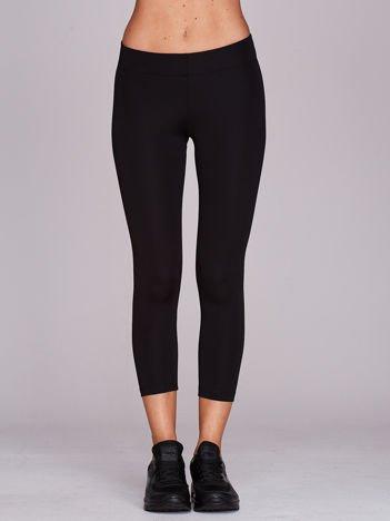 Czarne legginsy sportowe 3/4 o średniej grubości