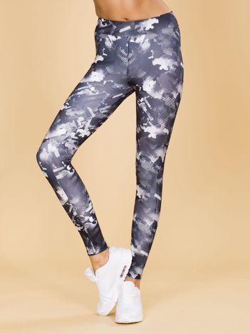 Czarne legginsy we wzory