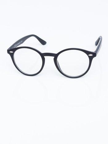 Czarne matowe okulary zerówki potterki