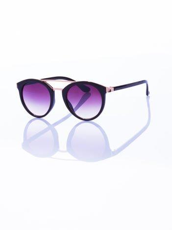 Czarne okulary przeciwsłoneczne w stylu vintage