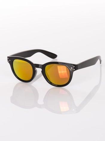 Czarne przeciwsłoneczne okulary w stylu Vintage