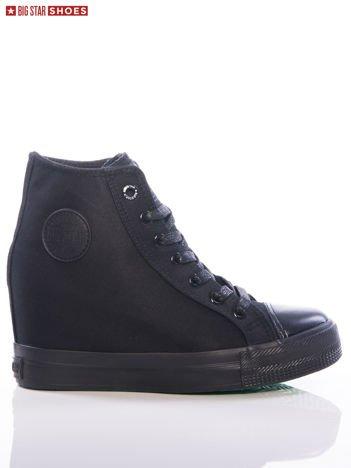 Czarne sneakersy Big Star z ozdobnym okrągłym logo na boku
