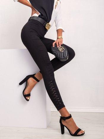 Czarne spodnie Janie
