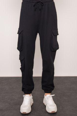 Czarne spodnie dresowe BSL