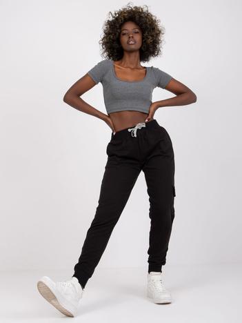 Czarne spodnie dresowe Cupid