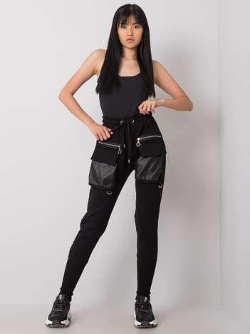 Czarne spodnie dresowe Rachel